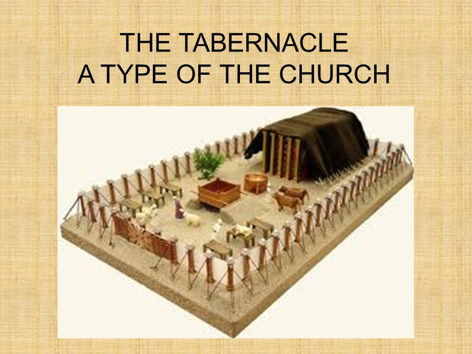 THE TABERNACLE A TYPE OF THE CHURCH