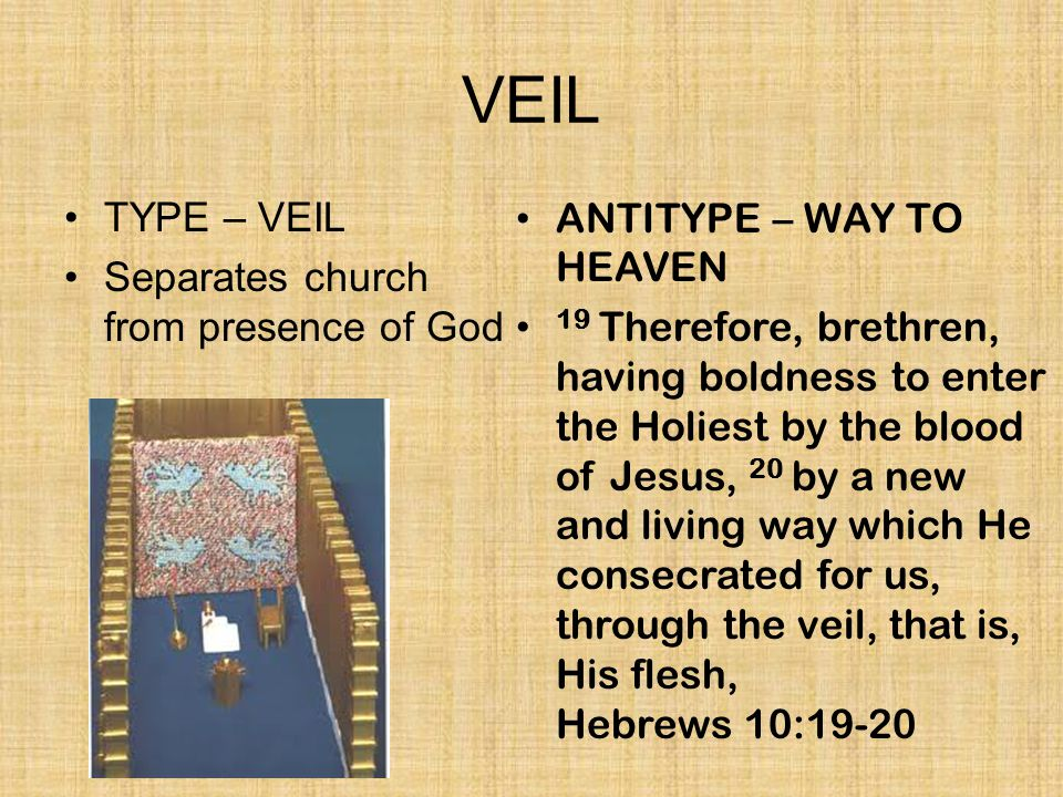 VEIL TYPE – VEIL Separates church from presence of God