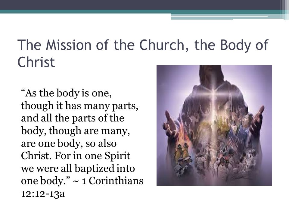 The Mission of the Church, the Body of Christ