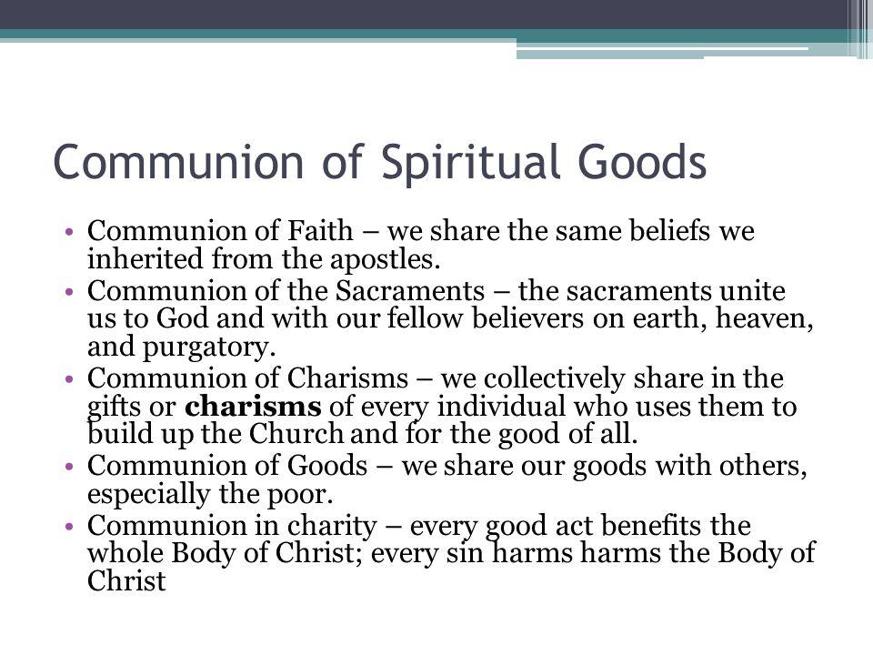 Communion of Spiritual Goods