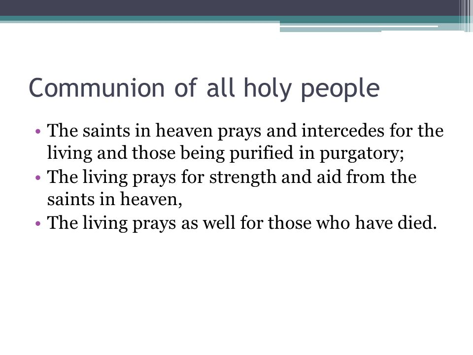Communion of all holy people