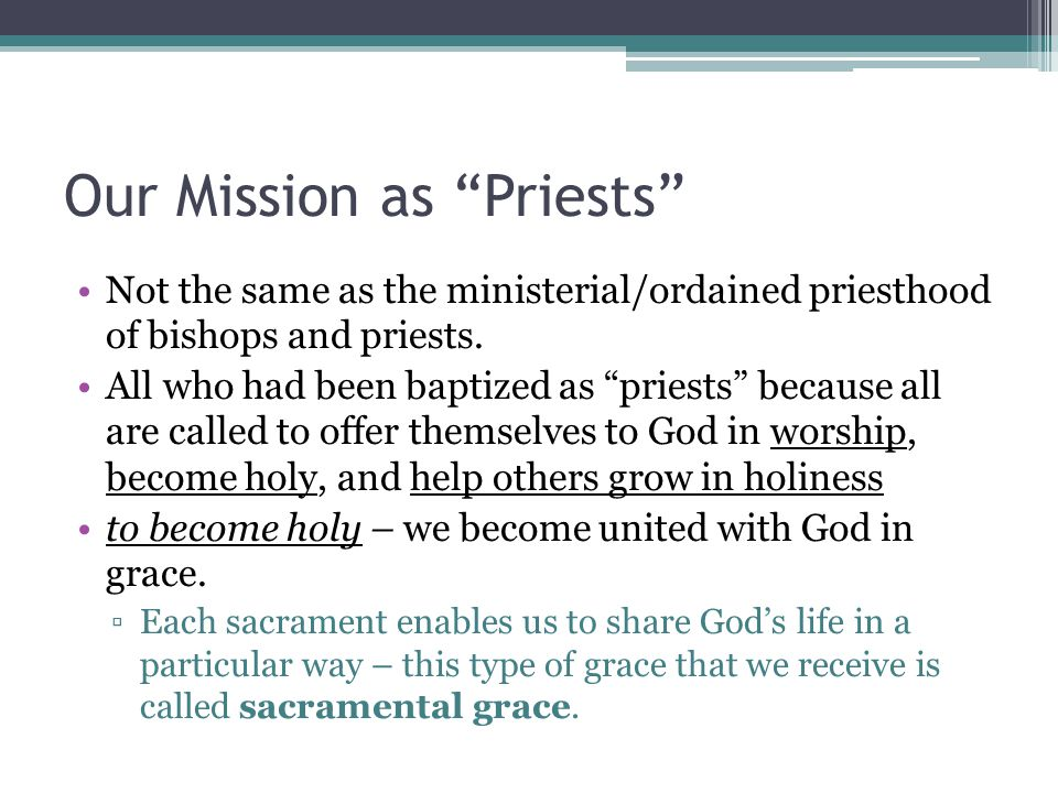 Our Mission as Priests