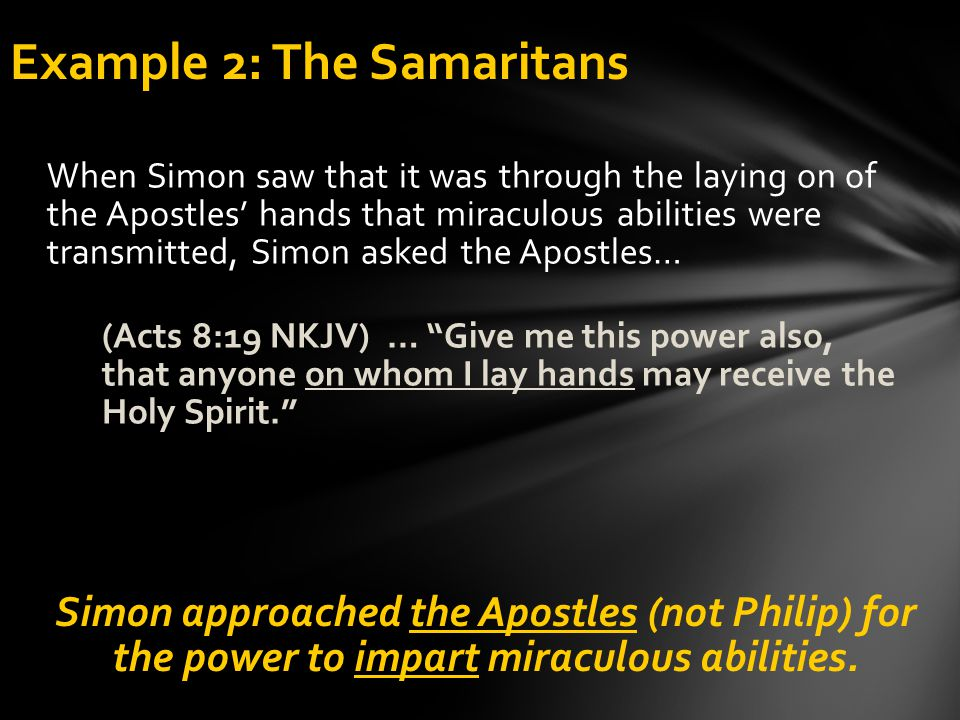 Example 2: The Samaritans