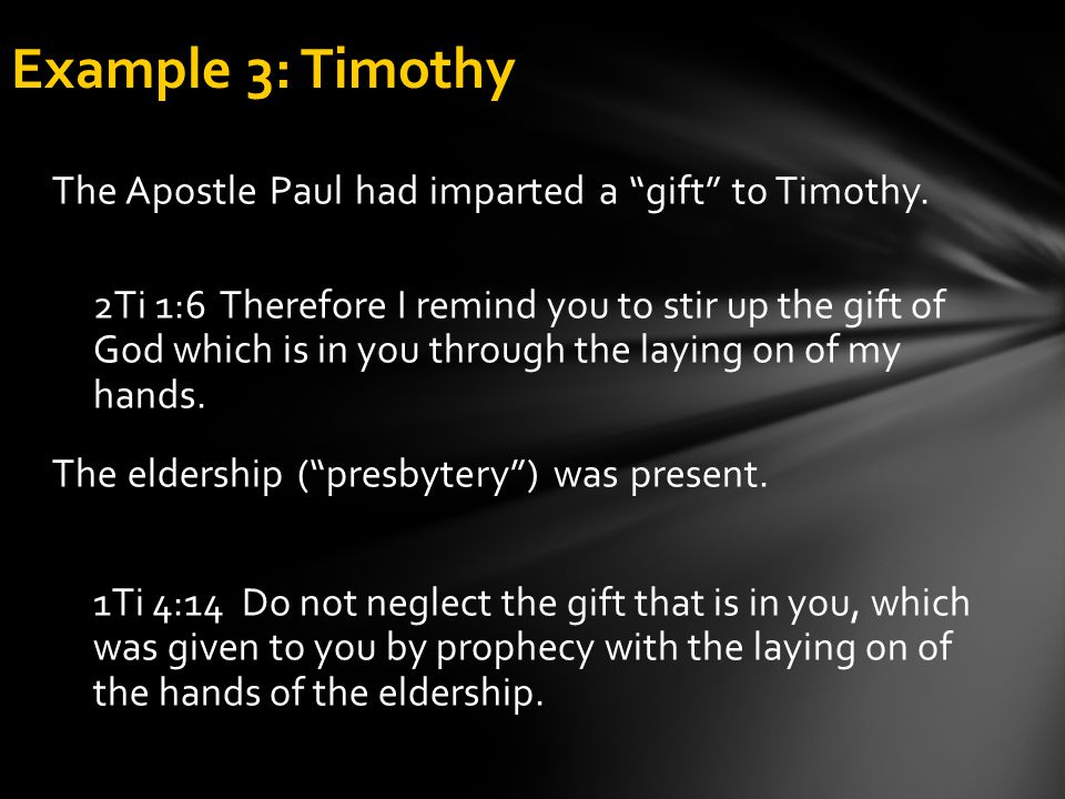 Example 3: Timothy