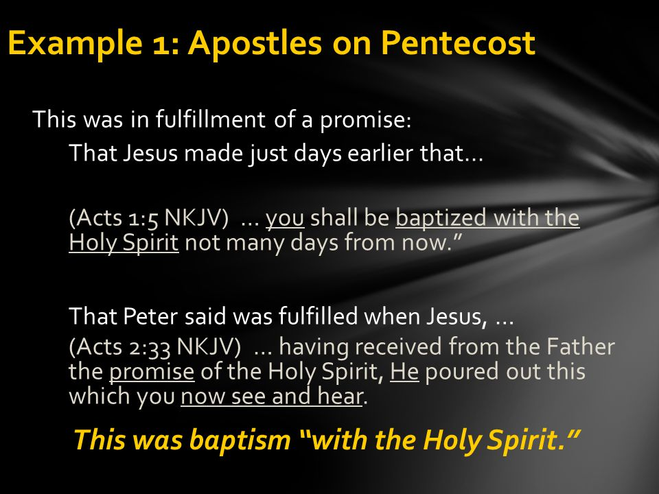 Example 1: Apostles on Pentecost