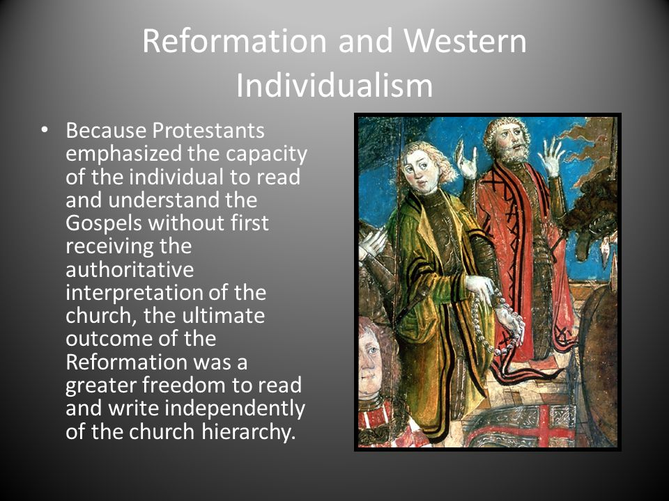 Reformation and Western Individualism
