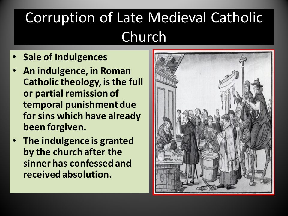 Corruption of Late Medieval Catholic Church