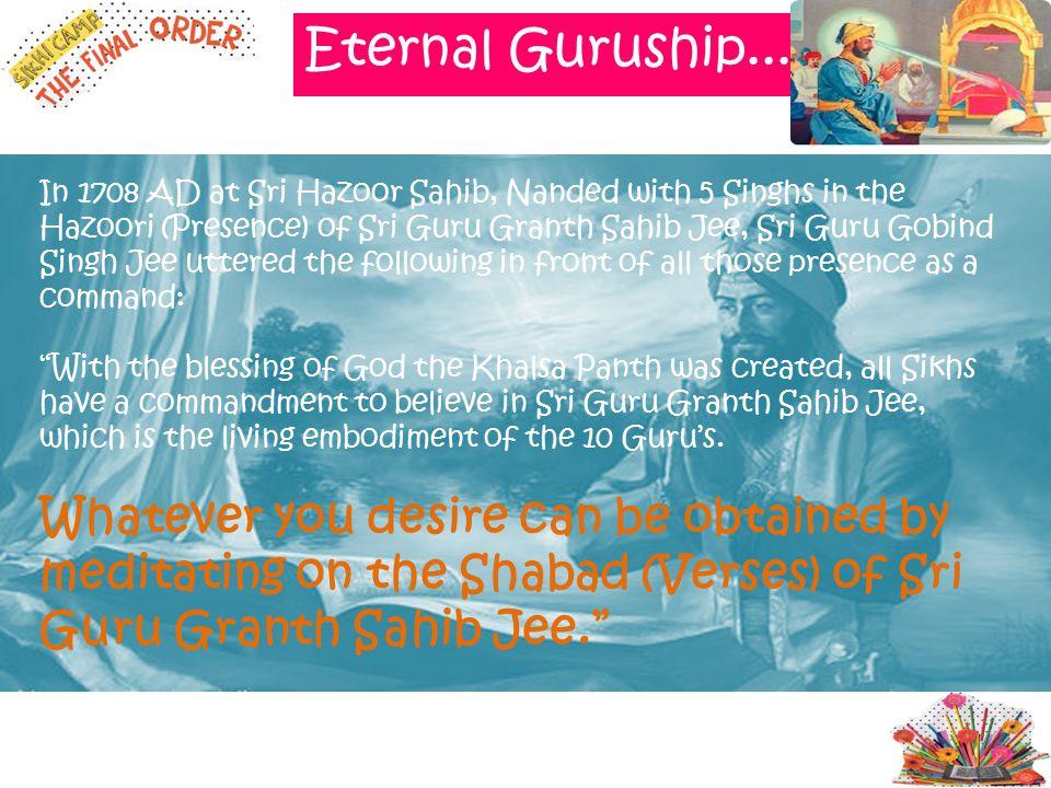 Eternal Guruship.....