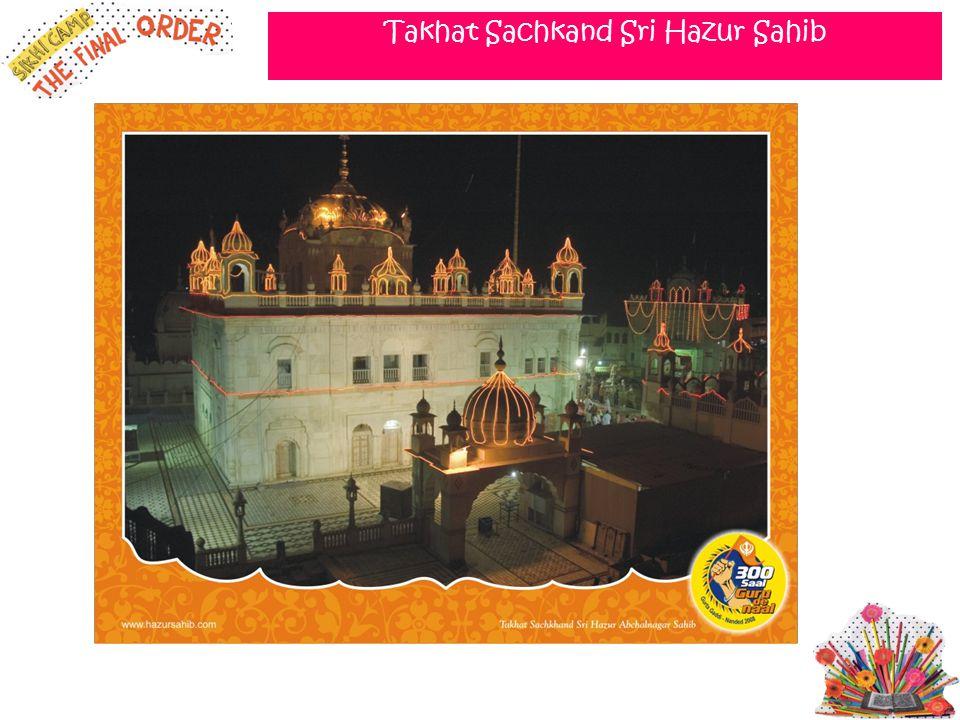 Takhat Sachkand Sri Hazur Sahib