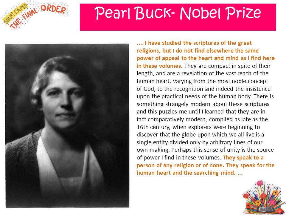 Pearl Buck- Nobel Prize