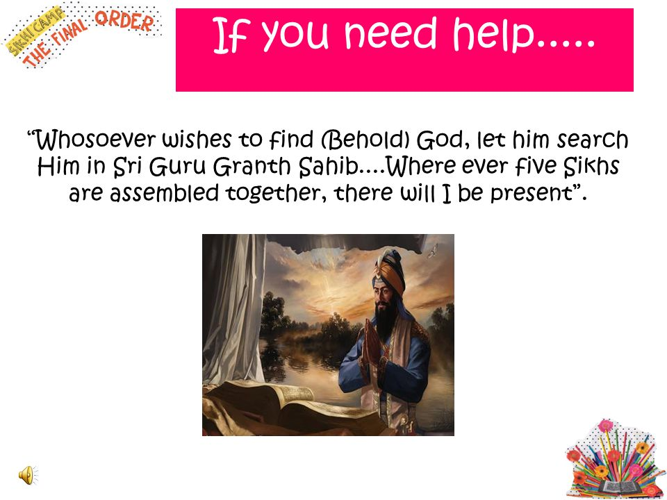 If you need help.....