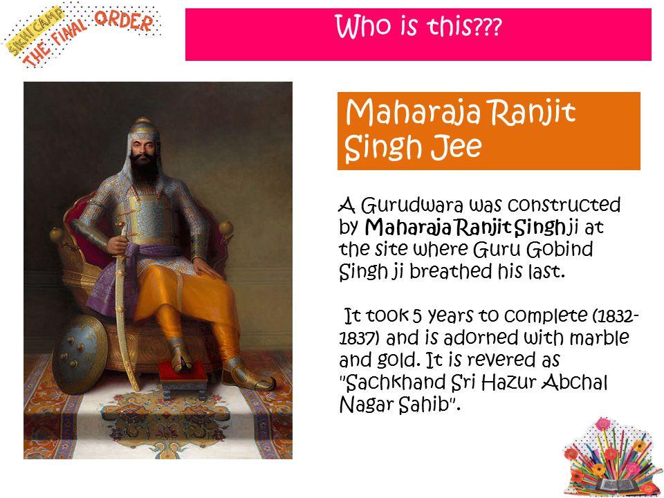 Maharaja Ranjit Singh Jee