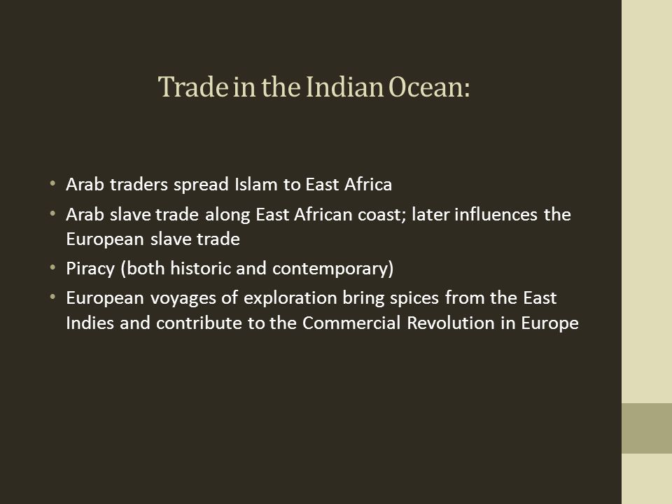 Trade in the Indian Ocean: