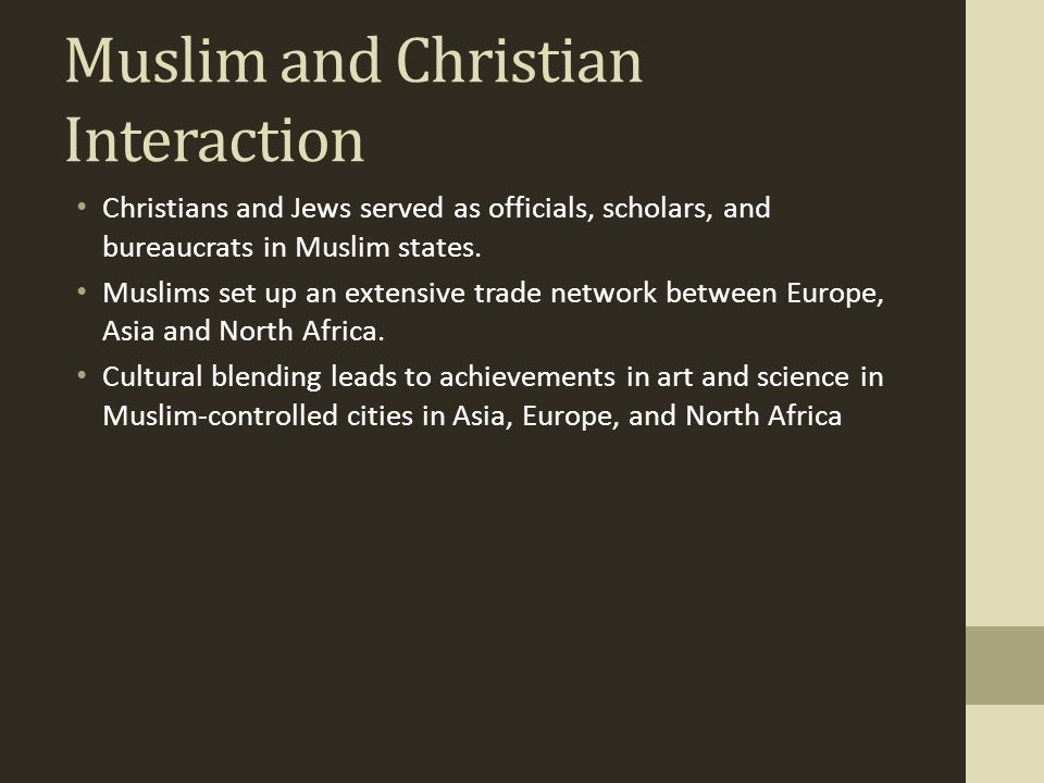 Muslim and Christian Interaction