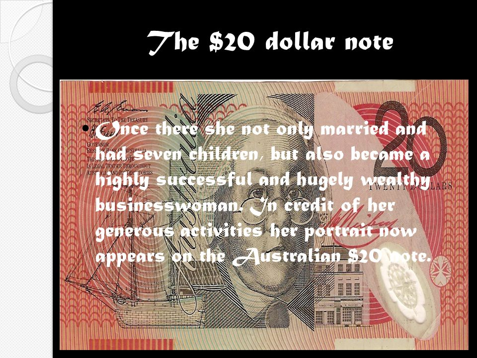 The $20 dollar note