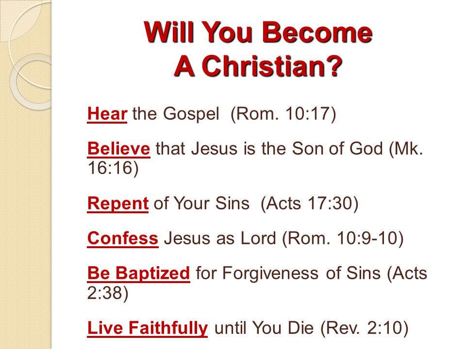 Will You Become A Christian