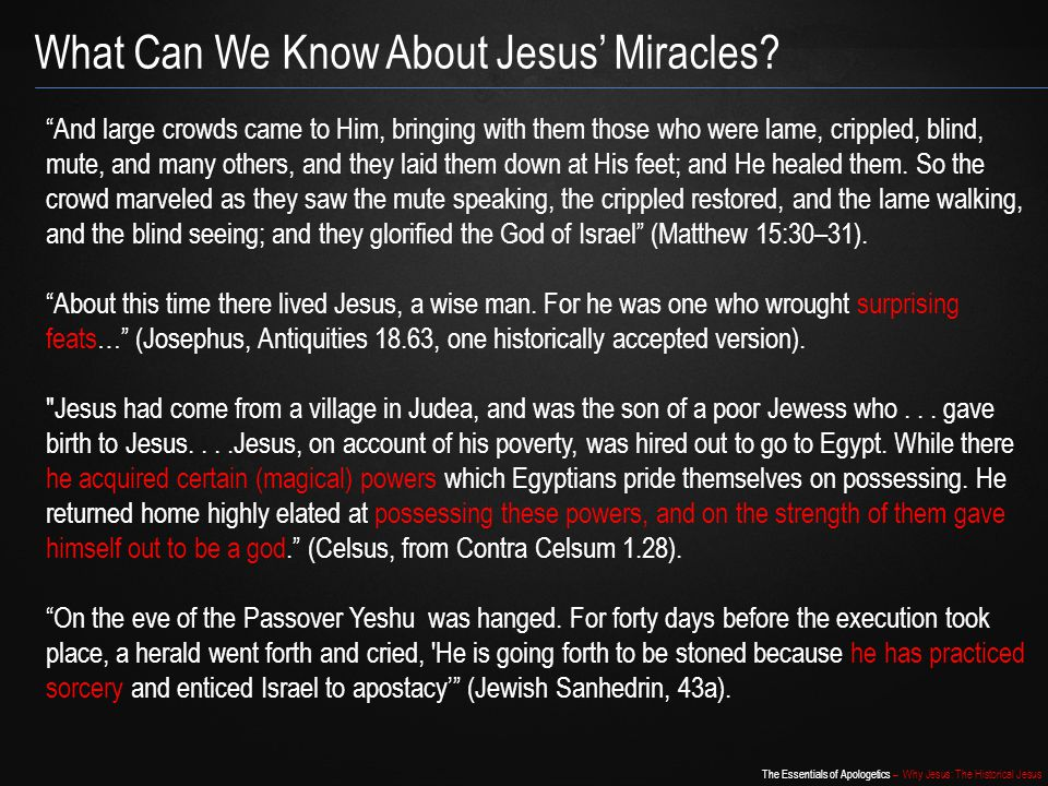 What Can We Know About Jesus' Miracles