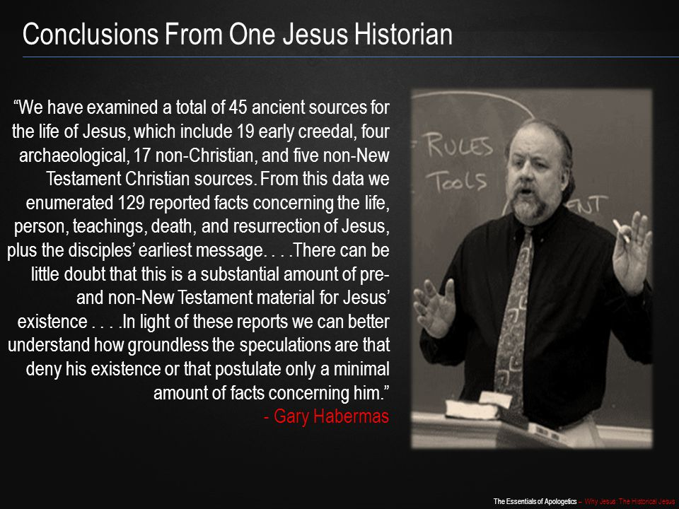 Conclusions From One Jesus Historian