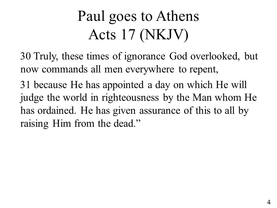 Paul goes to Athens Acts 17 (NKJV)
