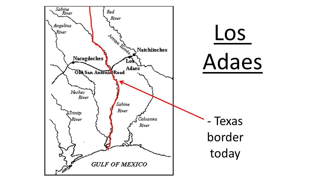 Los Adaes - Texas border today