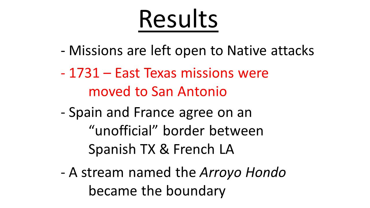 Results - Missions are left open to Native attacks