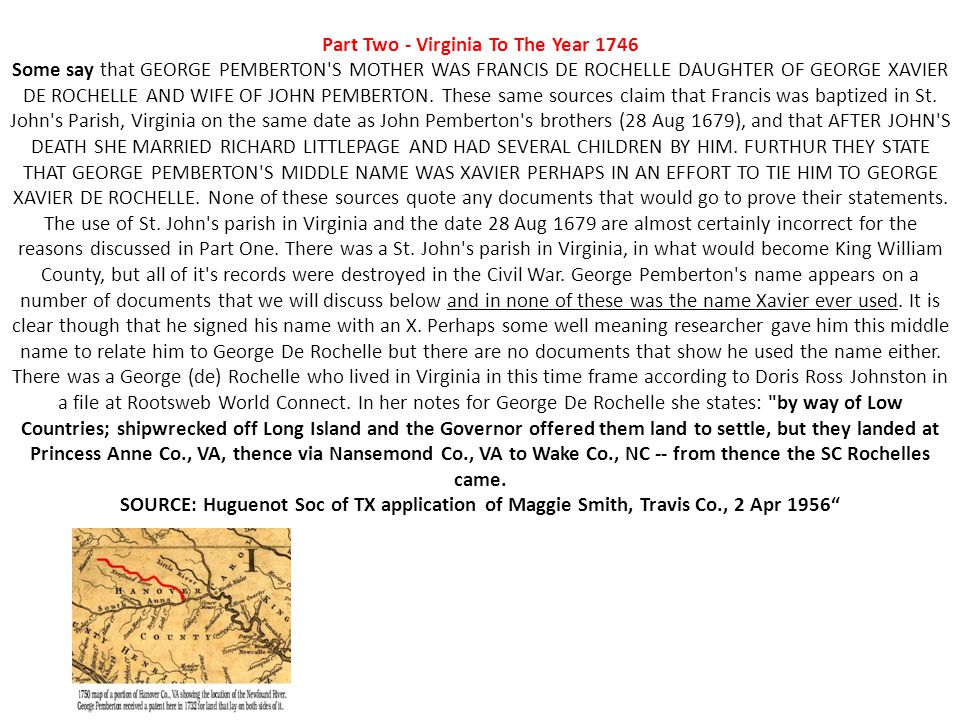 Part Two - Virginia To The Year 1746