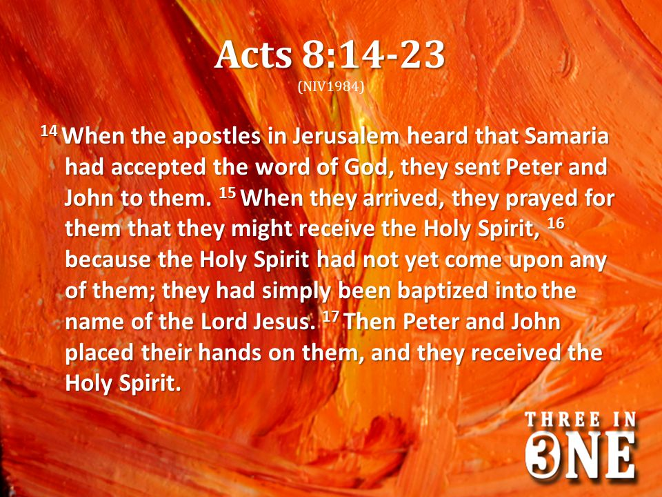 Acts 8:14-23 (NIV1984)
