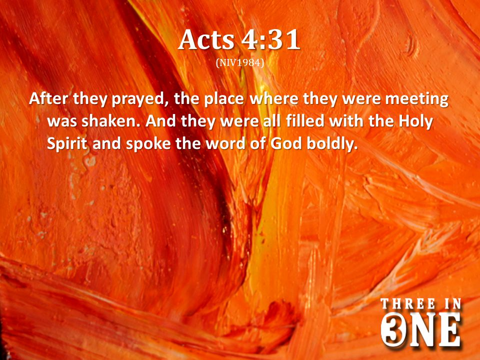 Acts 4:31 (NIV1984)