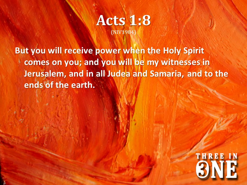 Acts 1:8 (NIV1984)