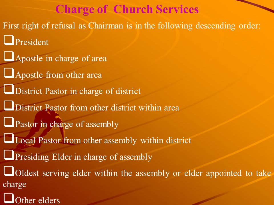 Charge of Church Services