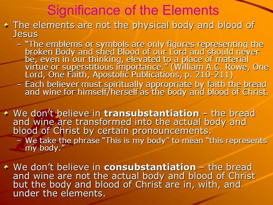 Significance of the Elements