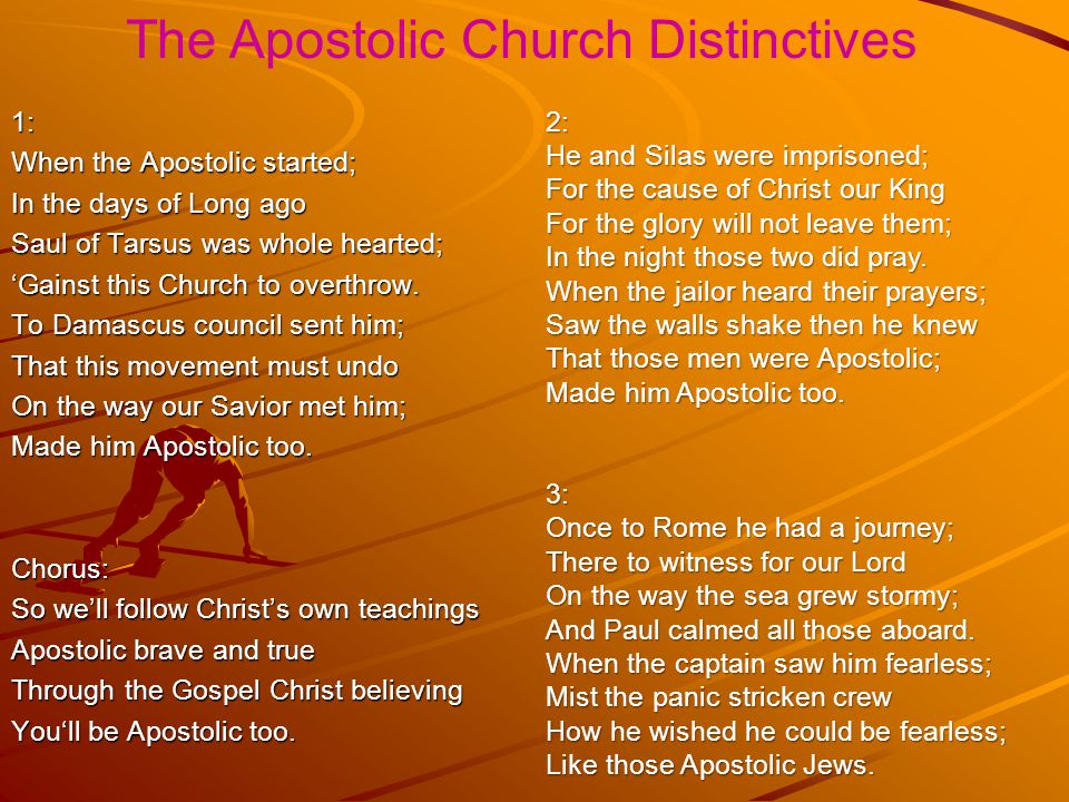The Apostolic Church Distinctives