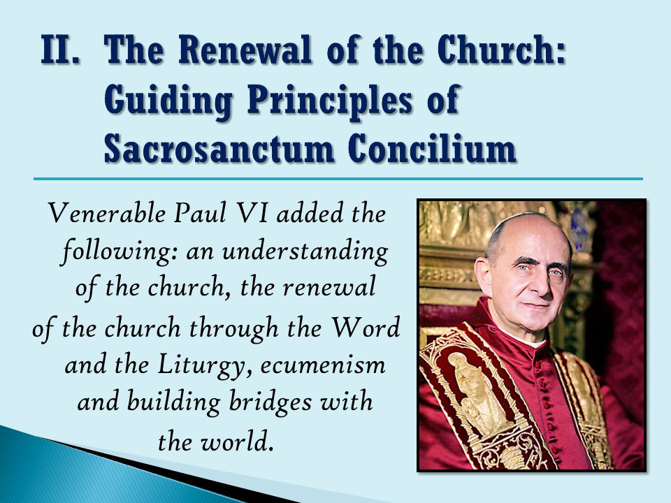 The Renewal of the Church: