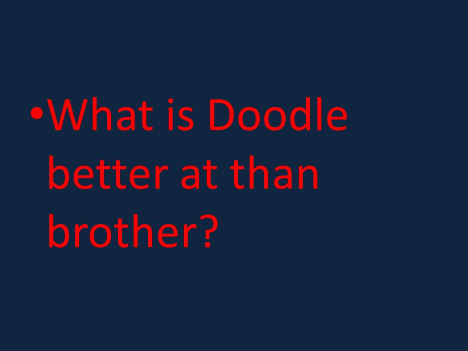 What is Doodle better at than brother