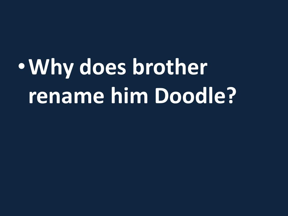 Why does brother rename him Doodle