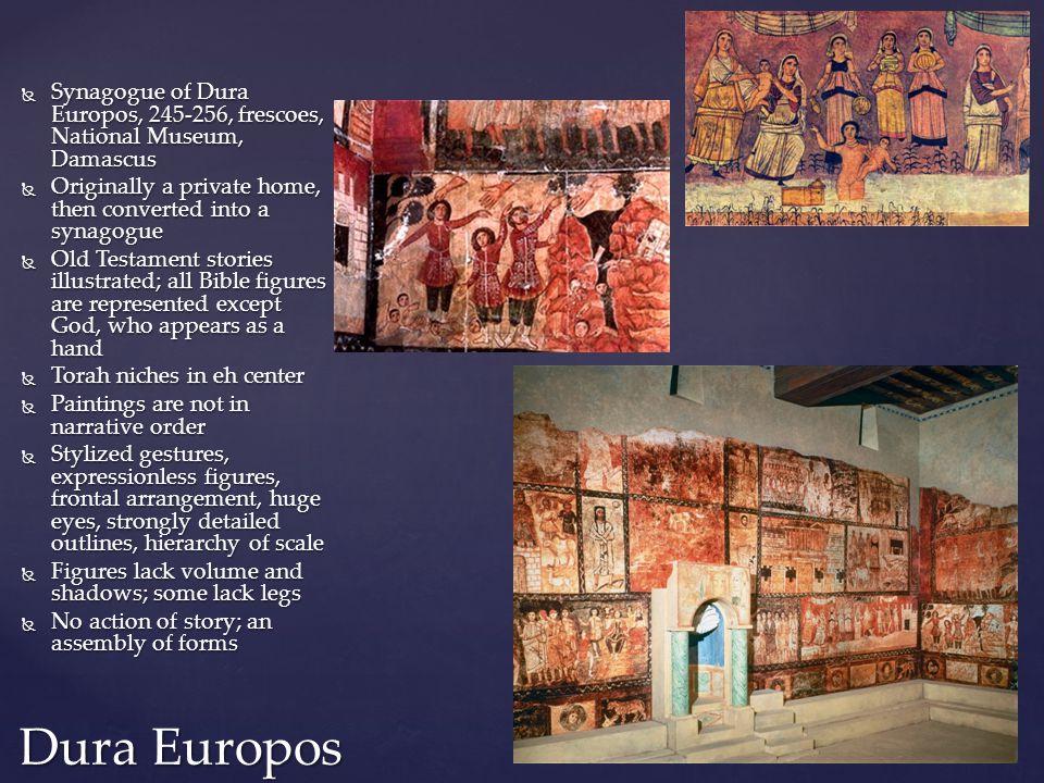 Synagogue of Dura Europos, 245-256, frescoes, National Museum, Damascus