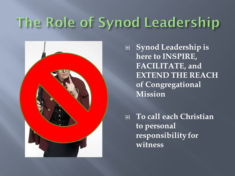 The Role of Synod Leadership