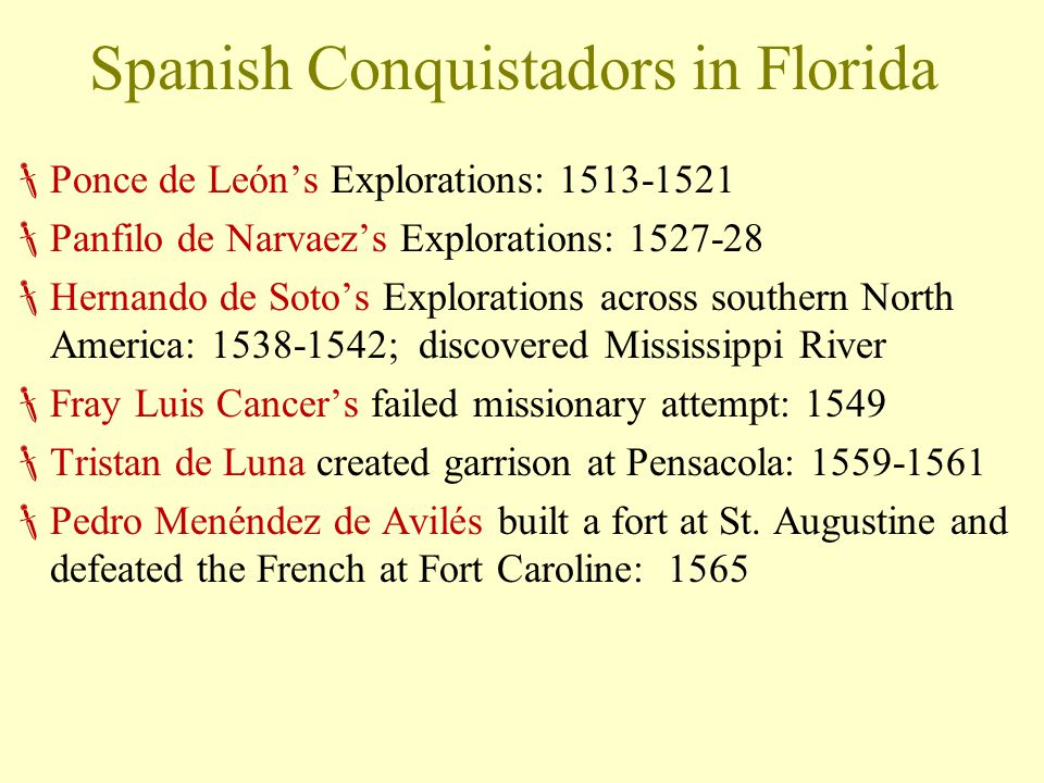 Spanish Conquistadors in Florida