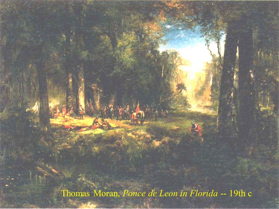 Thomas Moran, Ponce de Leon in Florida -- 19th c