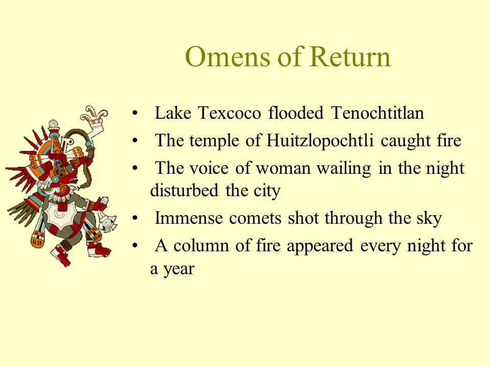 Omens of Return Lake Texcoco flooded Tenochtitlan