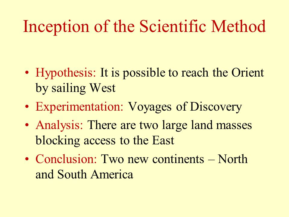 Inception of the Scientific Method