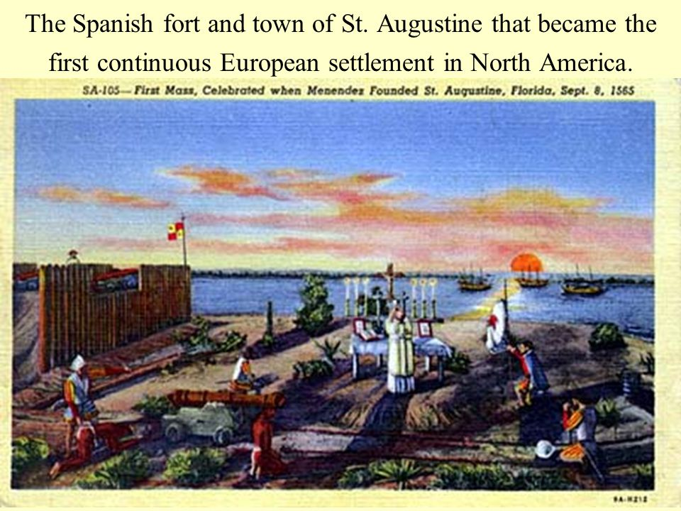 The Spanish fort and town of St