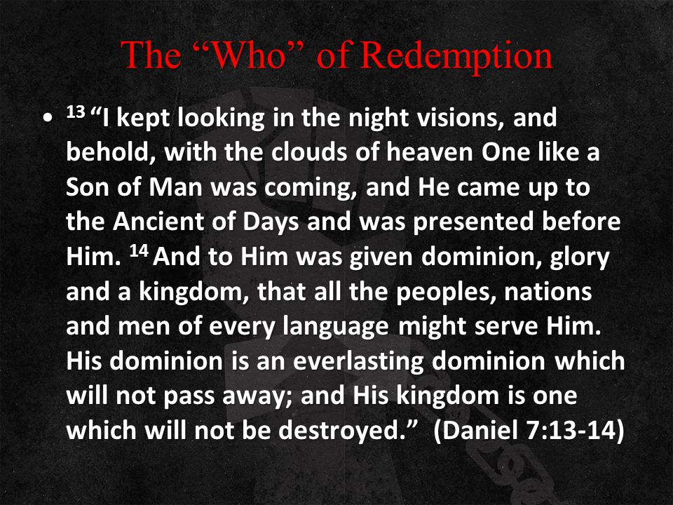 The Who of Redemption