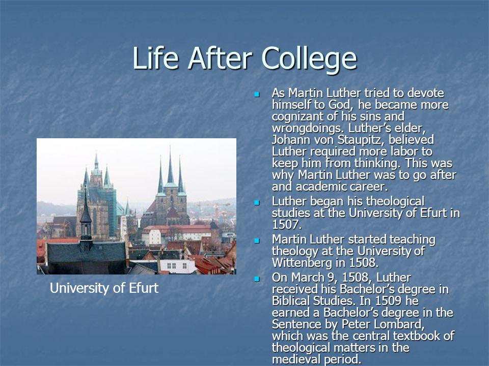 Life After College University of Efurt