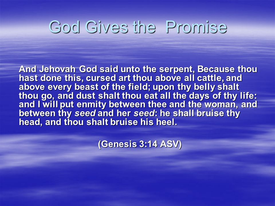 God Gives the Promise