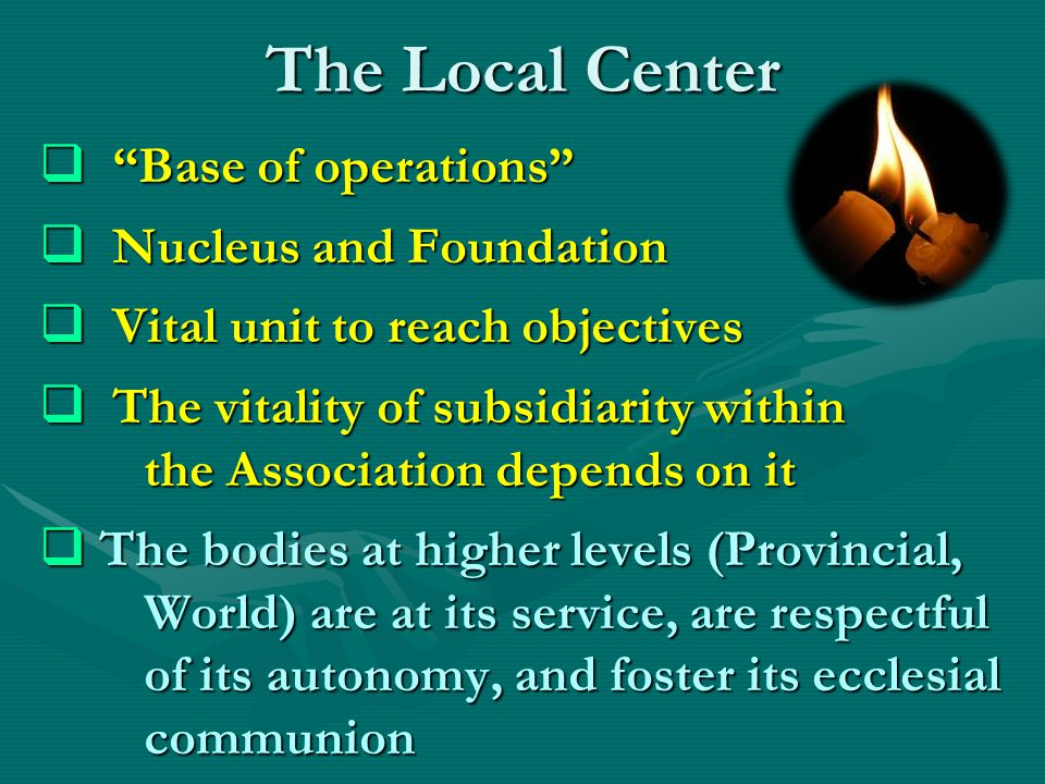 The Local Center Base of operations Nucleus and Foundation