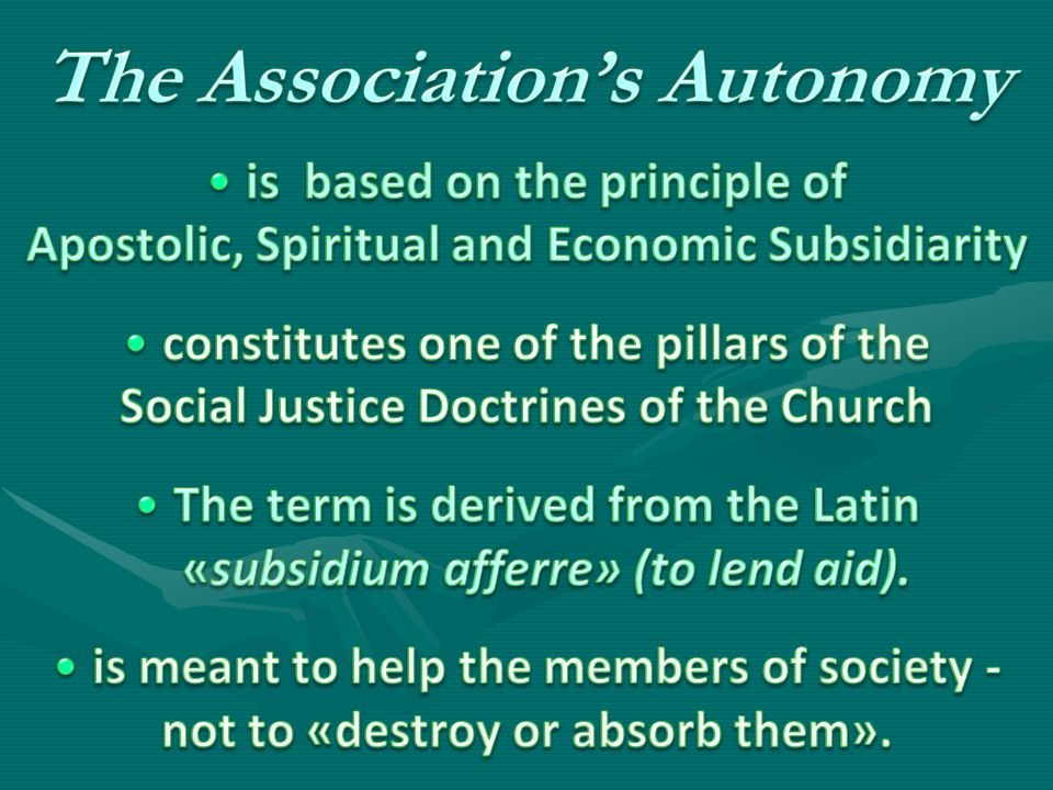The Association's Autonomy