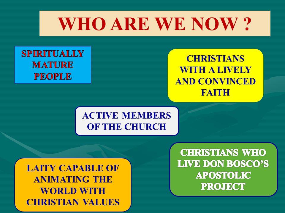 WHO ARE WE NOW SPIRITUALLY