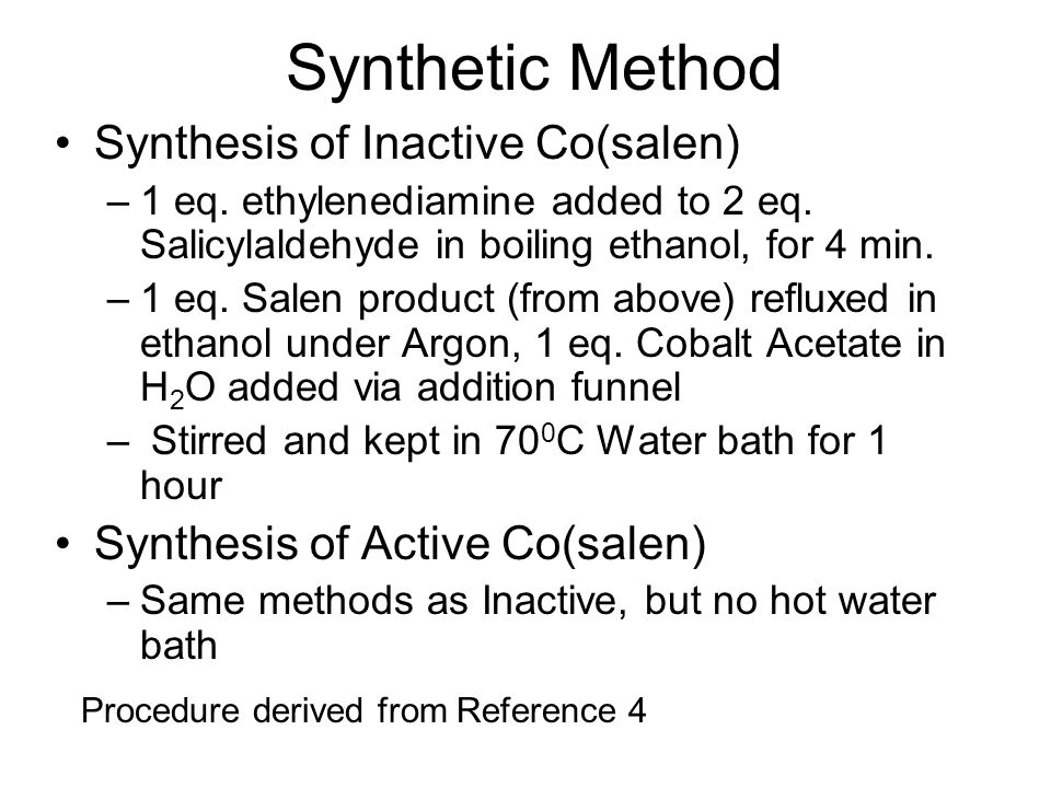 Synthetic Method Synthesis of Inactive Co(salen)