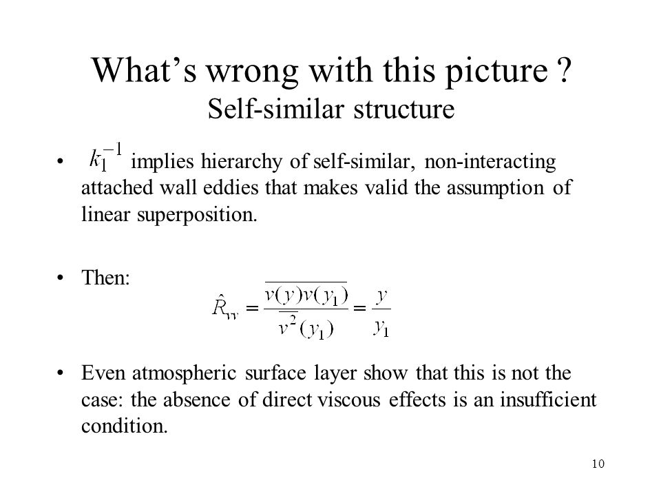 What's wrong with this picture Self-similar structure